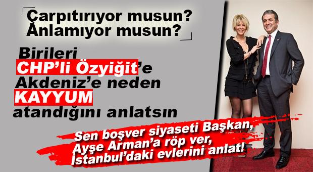 "CHP'Lİ ÖZYİĞİT'İN ""HDP'Lİ AKDENİZ"" AŞKI SÜRÜYOR… BU SEFER DE KAYYUMA ÇATTI!"