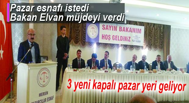 BAKAN LÜTFİ ELVAN, PAZAR ESNAFIYLA BULUŞTU