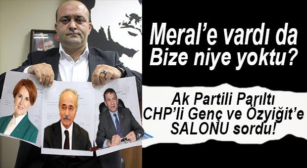 """PARILTI: """"HANİ SALON SİYASİ TOPLANTILARA KAPALIYDI?"""""""