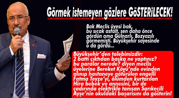 """BÜYÜKŞEHİR MECLİS ÜYELERİNE """"NE HİZMETLER YAPTIK"""" TURU"""