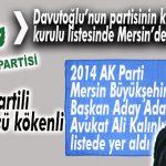 DAVUTOĞLU'NUN PARTİSİNİN KURUCULAR KURULUNDA 2 MERSİNLİ VAR