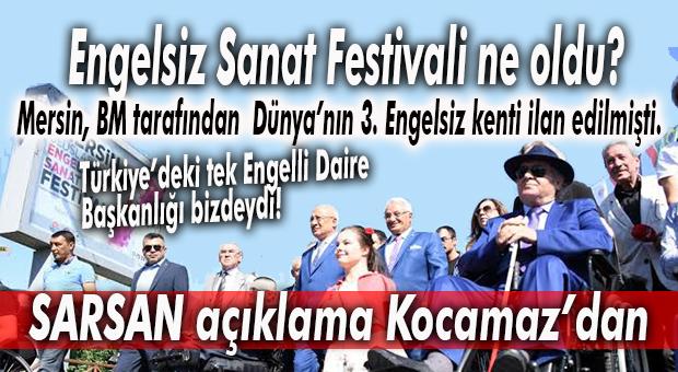 """NEREDEN NEREYE… MERSİN'DE ENGELLİLER GÜNÜ'NDE KOCAMAZ'DAN """"SARSAN"""" HATIRLATMA!"""