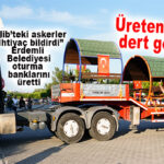 ERDEMLİ BELEDİYESİ ÜRETTİ: İDLİP'TEKİ ASKERLERİMİZE OTURMA BANKLARI