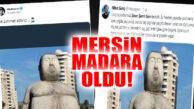 MERSİN'DEKİ HEYKEL SOSYAL MEDYADA GÜNDEM OLDU