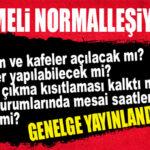 """GENELGE YAYINLANDI: İŞTE 17 MAYIS İTİBARİYLE """"YENİ DÖNEM!"""""""